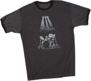 Zildjian Cymbals Spotlight Ringer Tee T Shirt M L XL