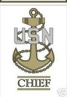NAVY CHIEF PETTY OFFICER STICKER WINDOW CAR DECAL
