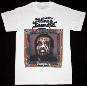 KING DIAMOND CONSPIRACY89 MERCYFUL FATE HEAVY METAL S XXL NEW WHITE T