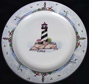 HOME TRENDS/TOTALLY TODAY COASTAL LIGHTHOUSE SALAD PLATE(S)