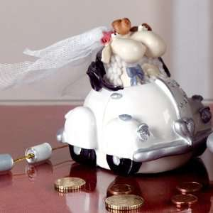 Spardose Just Married Schafe Polly & Paul weiß: .de: Baumarkt