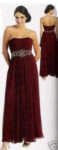 Bridesmaid Burgundy Plus size gown,Formal dress MQ635