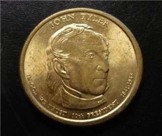 John Tyler 2009D Gold Dollar Clad Coin 10th President Free Shipping