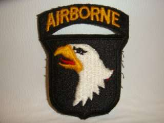 US ARMY ORIGINAL POST WWII 101st AIRBORNE SCREAMING EAGLE & TAB
