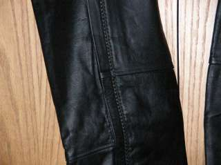 NEW Mens Top Grain Solid Buffalo Leather Motorcycle Chaps Braid Trim