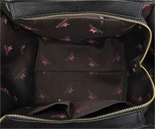 New Generous Womens Black PU Leather Tote Bag Interior Zipper Pocket