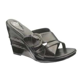Davidson DIANNA Womens Black Slip On Buckle Sandals D82073