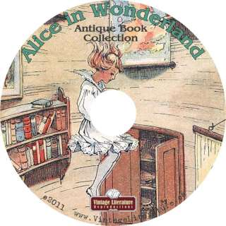 Alice in Wonderland {Lewis Carroll} Antique Books on CD