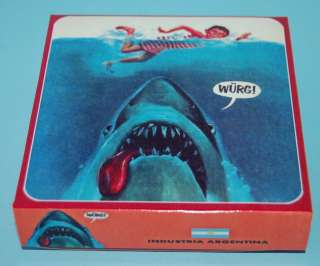 JAWS 1 MOVIE ALFRED NEWMAN MAD COVER PUZZLE BOX ARGENTINA |