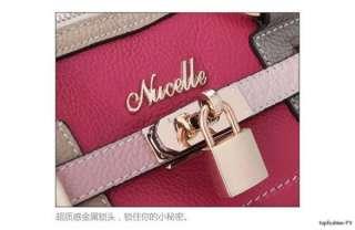 Real Cow Leather Bags Messenger Shoulder Bag Satchel Tote Handbags 178