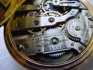 Antique Vacheron & Constantin Pocket Watch 14k Gold 17J |