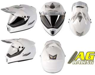 Nitro MX 450 Supermoto Visor Helmet White XL Enduro