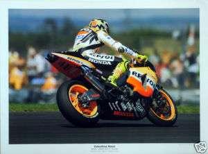 Valentino Rossi Repsol Honda Moto GP Gloss Photograph