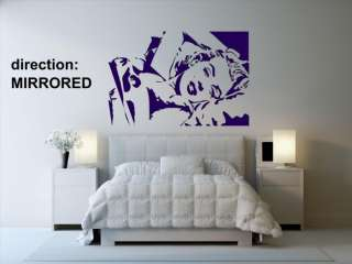Ƹ̵̡Ӝ̵̨̄Ʒ Sexy Marilyn Monroe Wall Decal Art Stickers