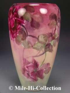 1906 Artist M.Beett   American Belleek Hand Painted Roses Vase