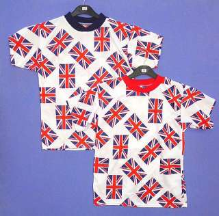 Boys or Girls Union Jack Flag All Over Print T Shirt Top 2 10 yrs NEW