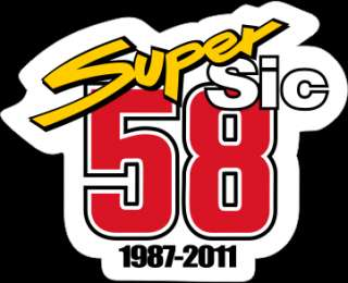 Stickers Pack Super Sic Marco Simoncelli Decal Aufkleber MotoGP