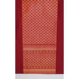 Table Runner   Classic Brocade Thai Silk Blend   Red