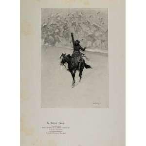 1923 Remington Indian Dream Soldier Cavalry West Print   Original