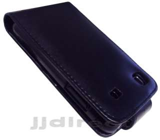 BLACK LEATHER CASE+SCREEN GUARD SAMSUNG GALAXY S i9000