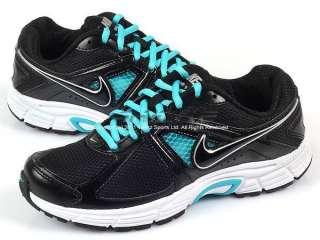 Nike Wmns Dart 9 Black/Black Bright Turquoise Metallic Silver Running