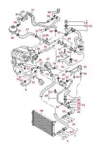 Seat 1J0121087L Cooling Hose Pipe Junction Leon/Leon 4  