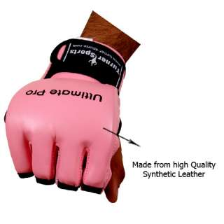 Pink MMA Gloves Ladies Boxing UFC Grappling Cage Small