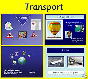 TRANSPORT  Early Years Foundation Stage IWB Teaching Resources