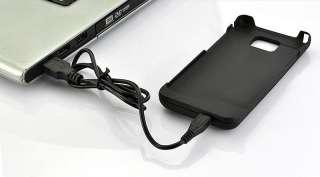 COVER BATTERIA SAMSUNG GALAXY S2 SII S 2 I9100 2200 MAH USB NERO