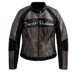 HARLEY DAVIDSON LADIES LEATHER JACKET LG *SALE* £220