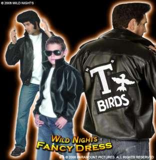 FANCY DRESS COSTUME # BOYS T BIRD JACKET GREASE MED NEW