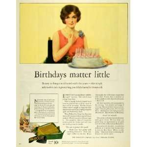 1926 Ad Palmolive Soap Birthday Cake Skin Care Beauty