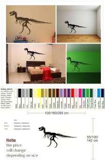 TREX TYRANNOSAURUS T REX SKELETON T REX WALL DECAL giant stencil vinyl