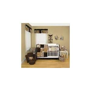 com Trend Lab JBL 200 Brown Bubbles   Crib Bedding Set (6 Pc.) Baby