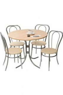 BISTRO DELUXE SET, 4 Chairs & Round Table