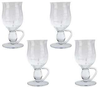 Duiske Set of 4 Coffee Mugs w/ Etched Irish Coffee Recipe   QVC