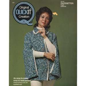 Vintage 1973 Quickit Creation Knitting and Crochet Sweaters Craft