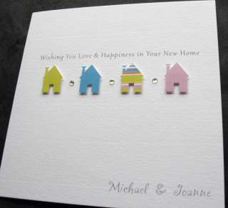 Handmade New Home Moving Change Address Good Luck Card