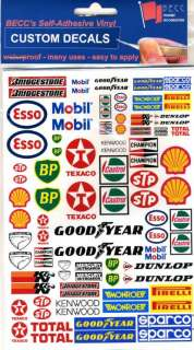 SPONSOR LOGOS   Model Decal Sticker Set   *SMALL*