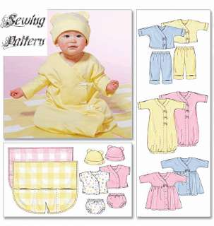 Amazon.com: McCall's Patterns M4280 Infants' Layette, All