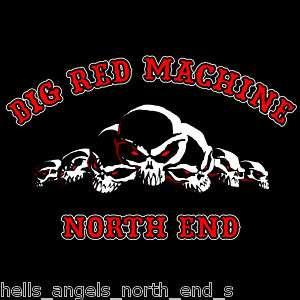 HELLS ANGELS SUPPORT BIG RED MACHINE T SHIRT 666 BRM 81