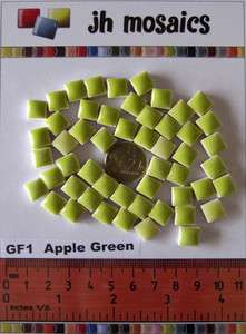 100pcs Mini Mosaic Tiles LIME GREEN 3/8 stock in US