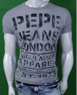 Pepe Jeans LONDON Flag EST 1973 PJL Men T Shirt Shirt