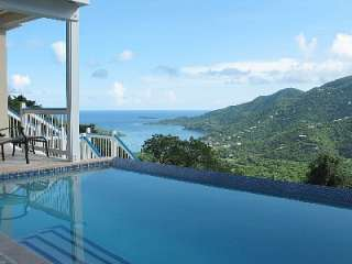 Coral Bay vacation villa rental: Blue Palm Villa New home with pool