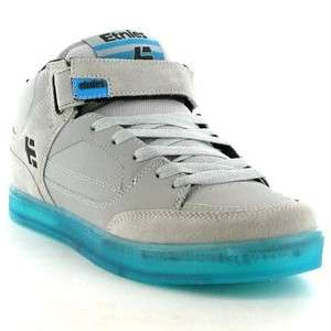 Etnies Number Mid Genuine Mens Skate Shoe Grey Blue Sizes UK 8   11