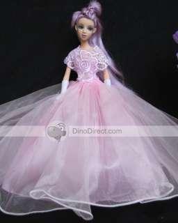 Wholesale Crochet Flower Pleat Barbie Doll Dress Clothes   DinoDirect