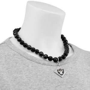 Touch by Alyssa Milano Oakland Raiders Beaded Necklace with Team Logo