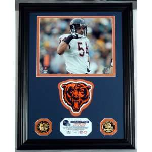 Chicago Bears BRIAN URLACHER Patch Collection PHOTOMINT & GOLD COINS