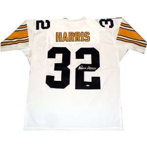 Franco Harris Pittsburgh Steelers Autographed White Mitchell & Ness