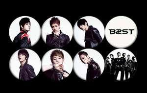 B2ST BEAST Korean Boy Band Music #1 Buttons Pins Badges